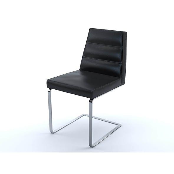 Ellison chair black leather - 3DOcean Item for Sale