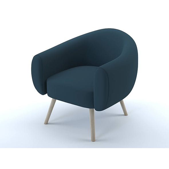 Lottie armchair steel blue - 3DOcean Item for Sale