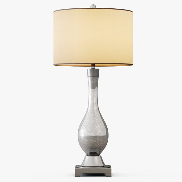 Mercury Glass Table Lamp - 3DOcean Item for Sale