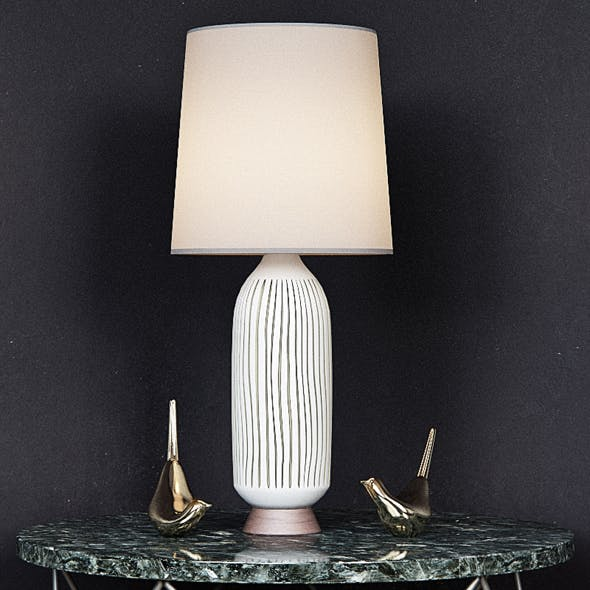 Mid Century Table Lamp Bullet - 3DOcean Item for Sale