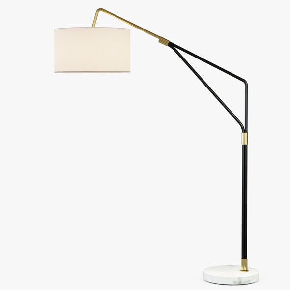 Mid Century Overarching Floor Lamp