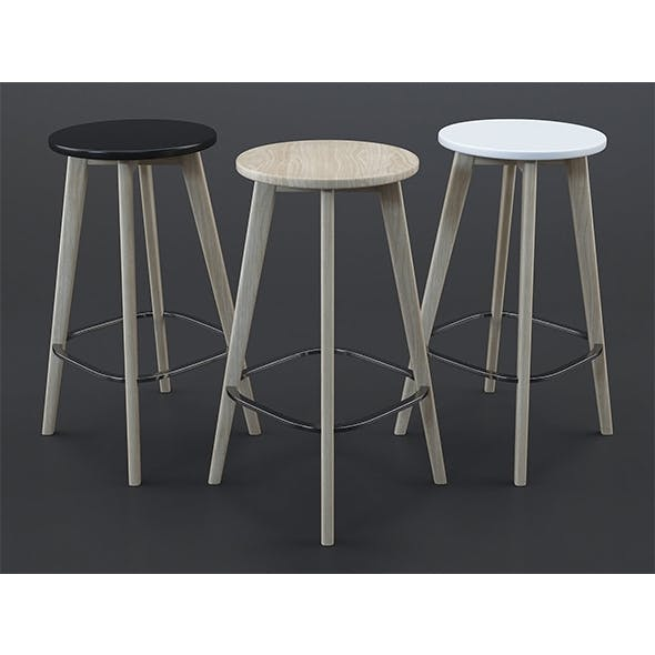 Fjord bar stools - 3DOcean Item for Sale