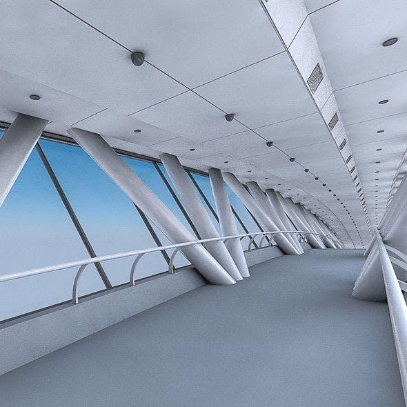Kingdom Centre Skybridge Interior - 3DOcean Item for Sale