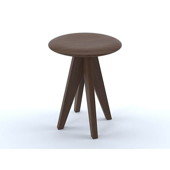 Fonteyn oak stool - 3DOcean Item for Sale