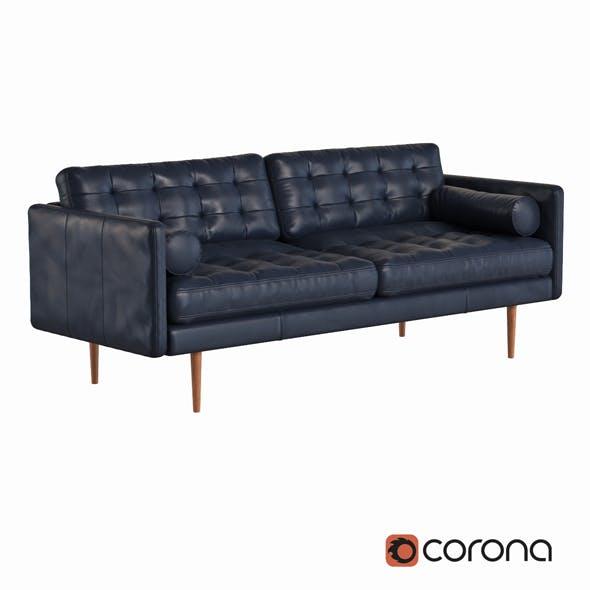 Monroe Mid Century Leather Sofa