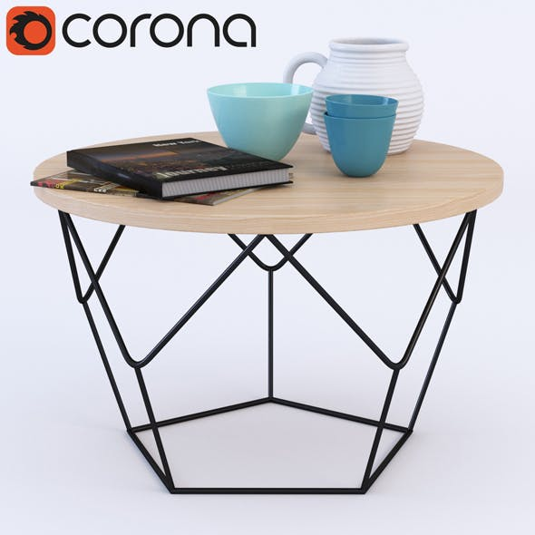 Origami Coffee Table - 3DOcean Item for Sale