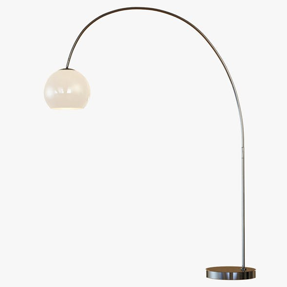 Overarching Acrylic Shade Floor Lamp