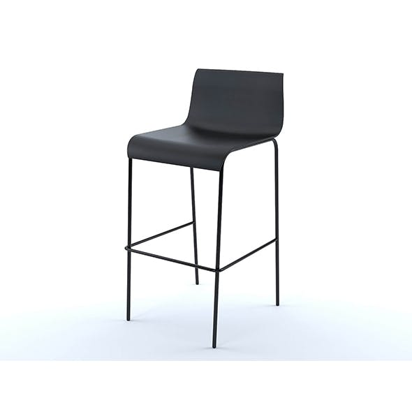 Piloti bar stool - 3DOcean Item for Sale