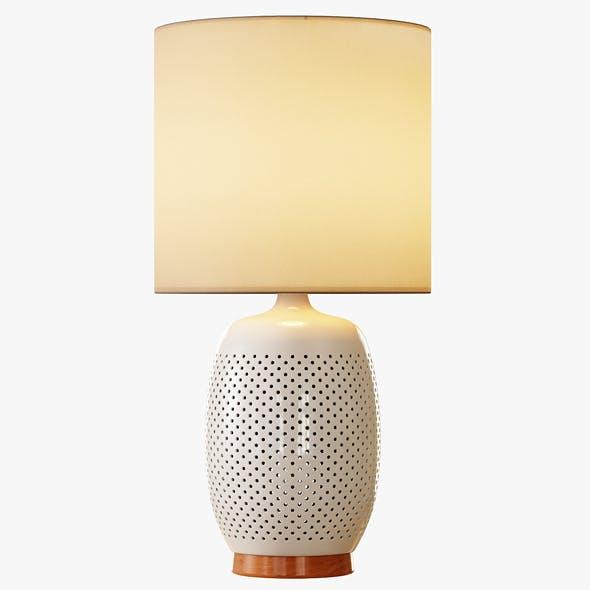 Pierced Ceramic Table Lamp - 3DOcean Item for Sale