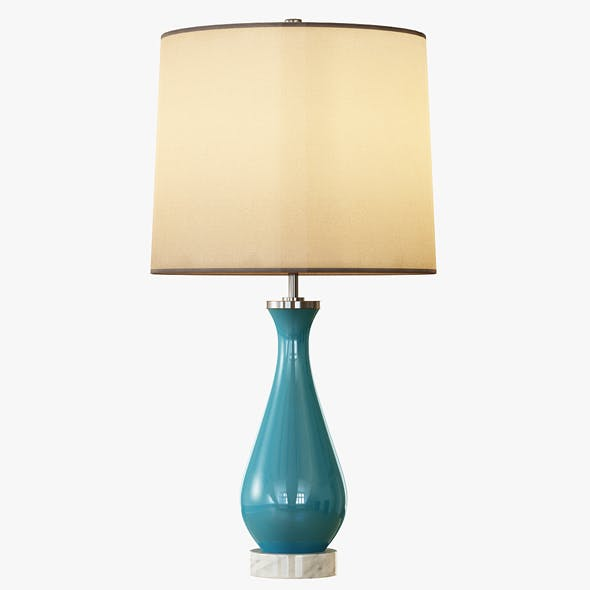 Rejuvenation Colored Glass Table Lamp - Medium - 3DOcean Item for Sale