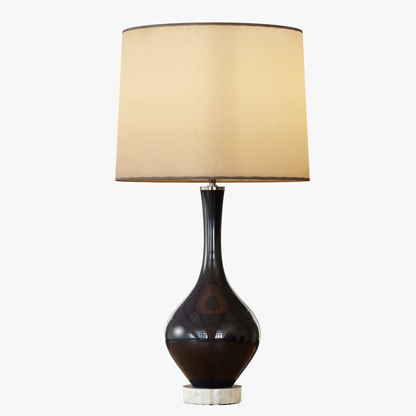 Rejuvenation Colored Glass Table Lamp - Tall - 3DOcean Item for Sale