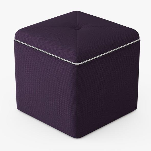 Ritz Cube Ottoman - 3DOcean Item for Sale
