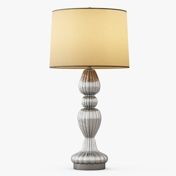 Scalloped Table Lamp - 3DOcean Item for Sale