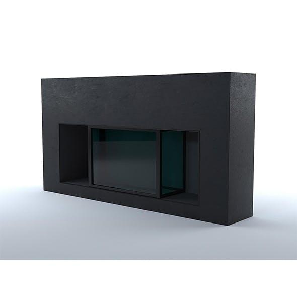 Black concrete fireplace - 3DOcean Item for Sale
