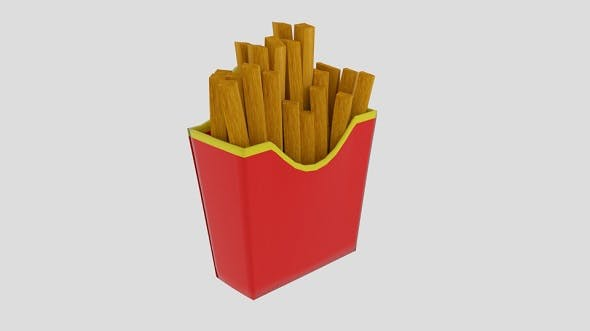 French Fries Cup - 3DOcean Item for Sale