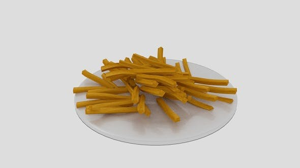 French Fries Dish - 3DOcean Item for Sale