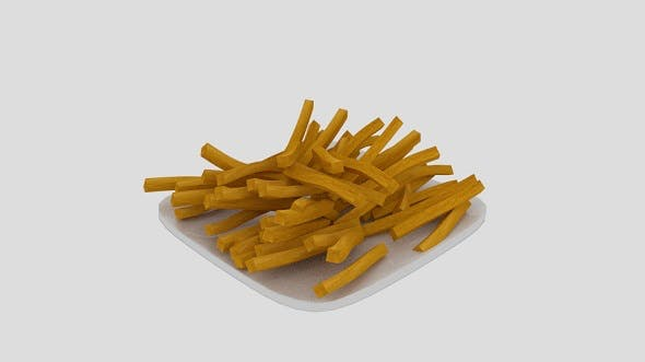 French Fries Plate - 3DOcean Item for Sale