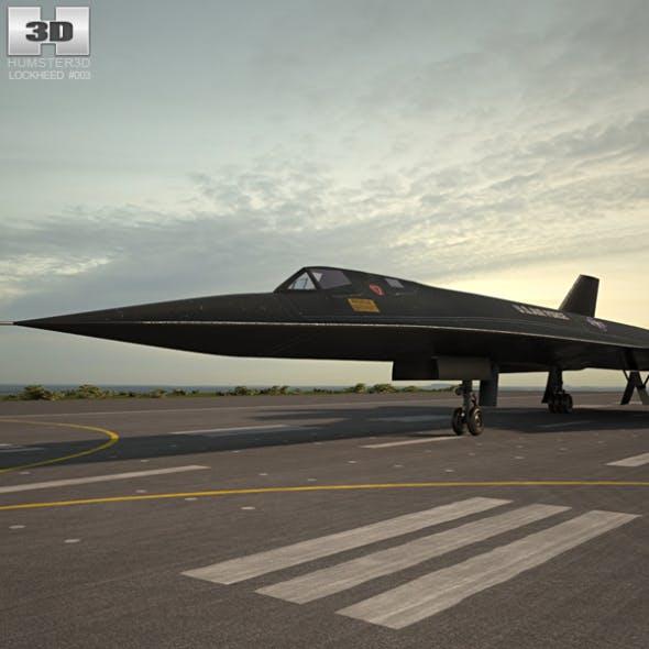 Lockheed SR-71 Blackbird - 3DOcean Item for Sale