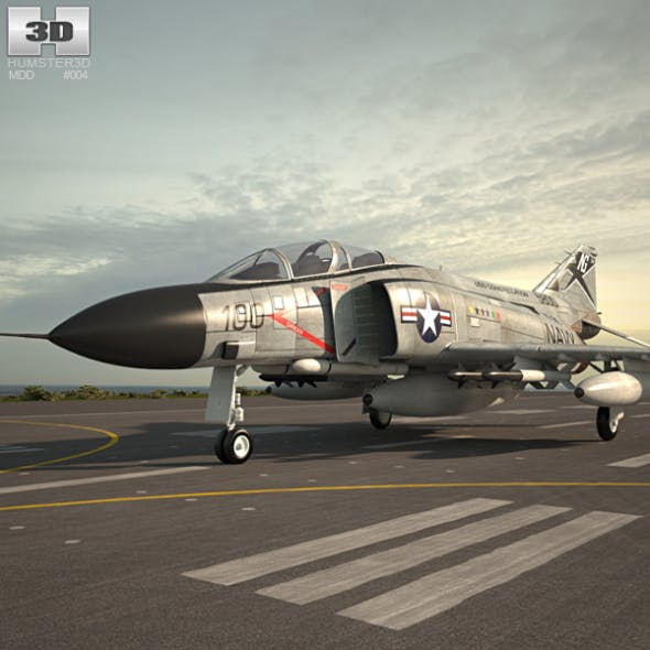 McDonnell Douglas F-4 Phantom II - 3DOcean Item for Sale