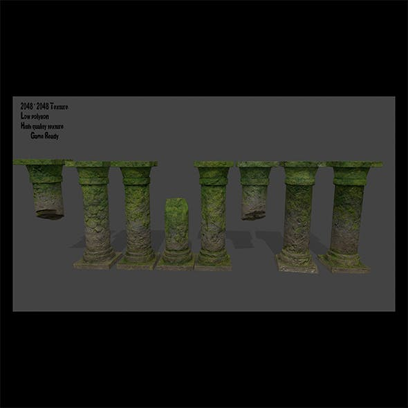 pillar set - 3DOcean Item for Sale