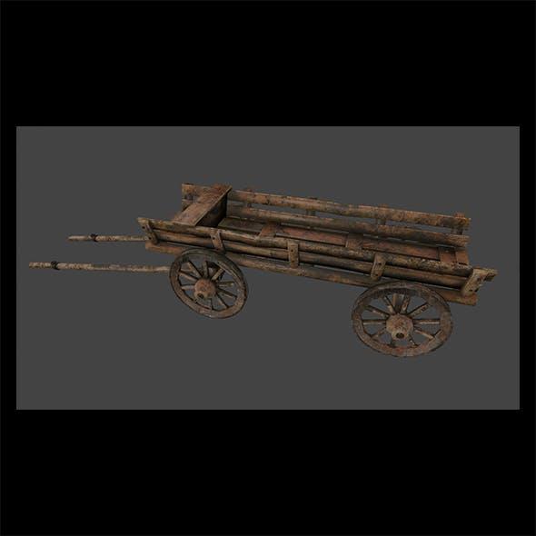 Wooden_Cart - 3DOcean Item for Sale