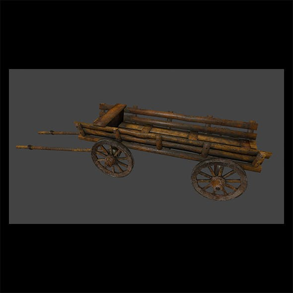 Wooden_Cart - 3DOcean Item for Sale