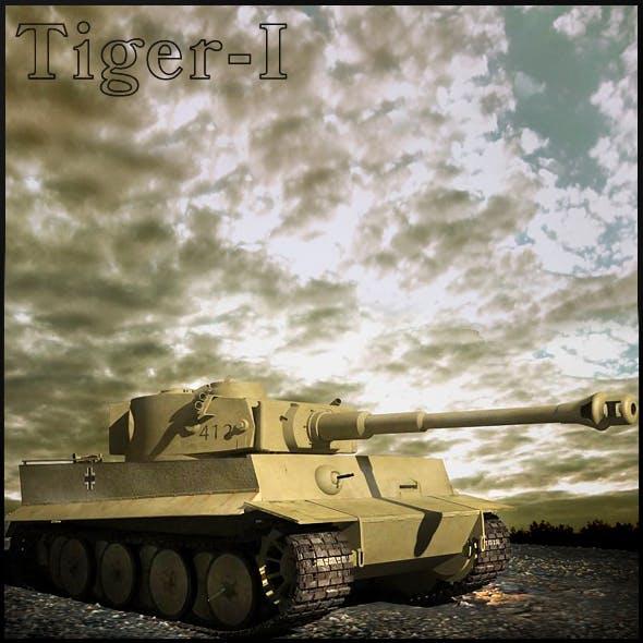 Tiger-1 - 3DOcean Item for Sale