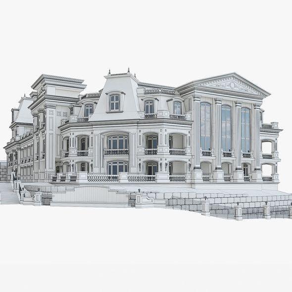 Luxury Hotel Building 01