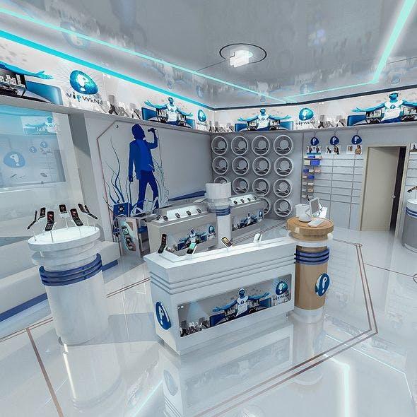 Mobile Phone Shop Interior 01 - 3DOcean Item for Sale