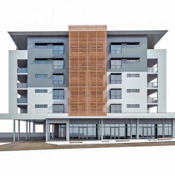 Modern Apartment Building 03 - 3DOcean Item for Sale