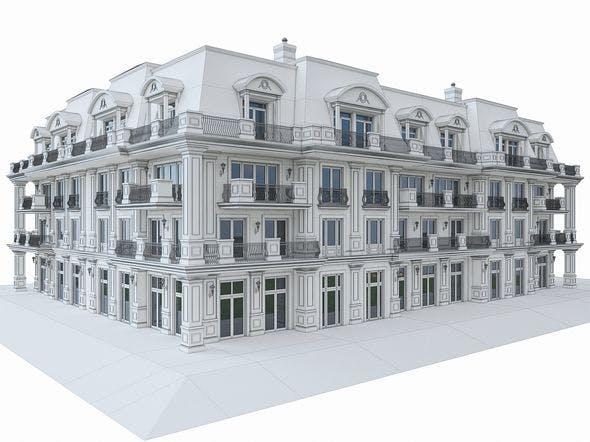 Luxury Hotel Building 02 - 3DOcean Item for Sale