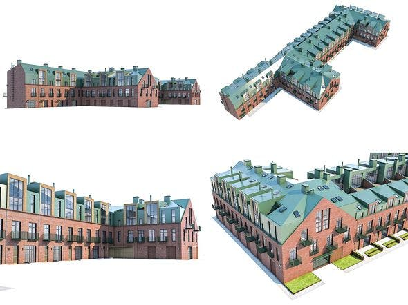 Modern Loft Building - 3DOcean Item for Sale