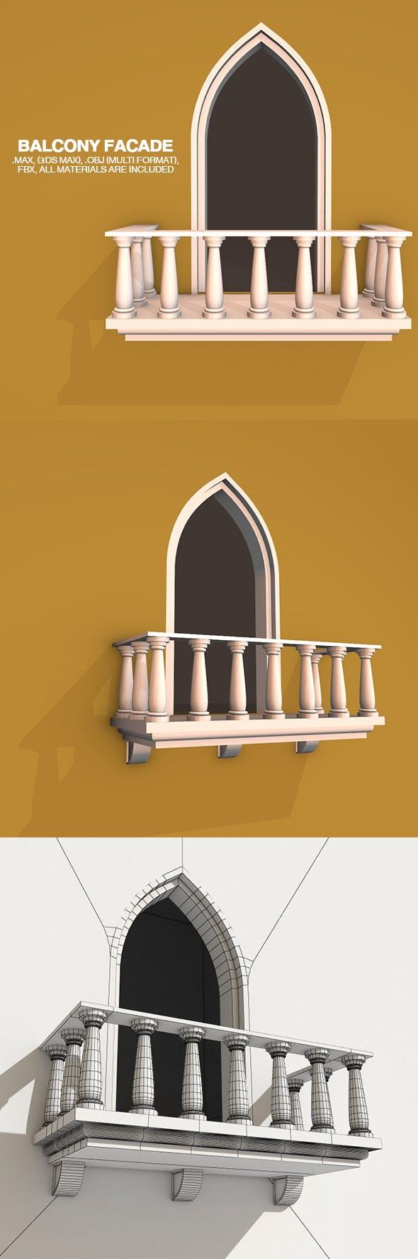 Balcony Facade - 3DOcean Item for Sale