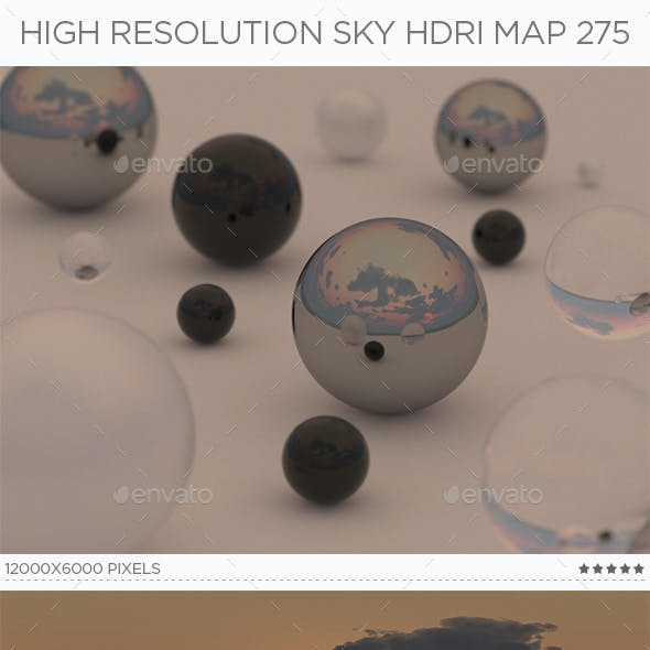 High Resolution Sky HDRi Map 275