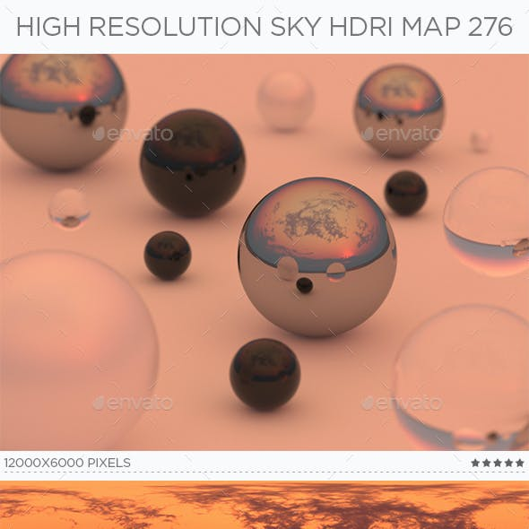 High Resolution Sky HDRi Map 276