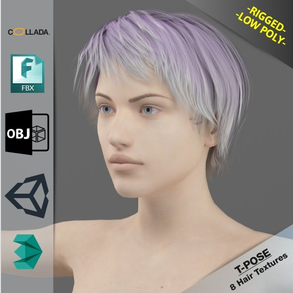 Naked Gril4 - 3DOcean Item for Sale