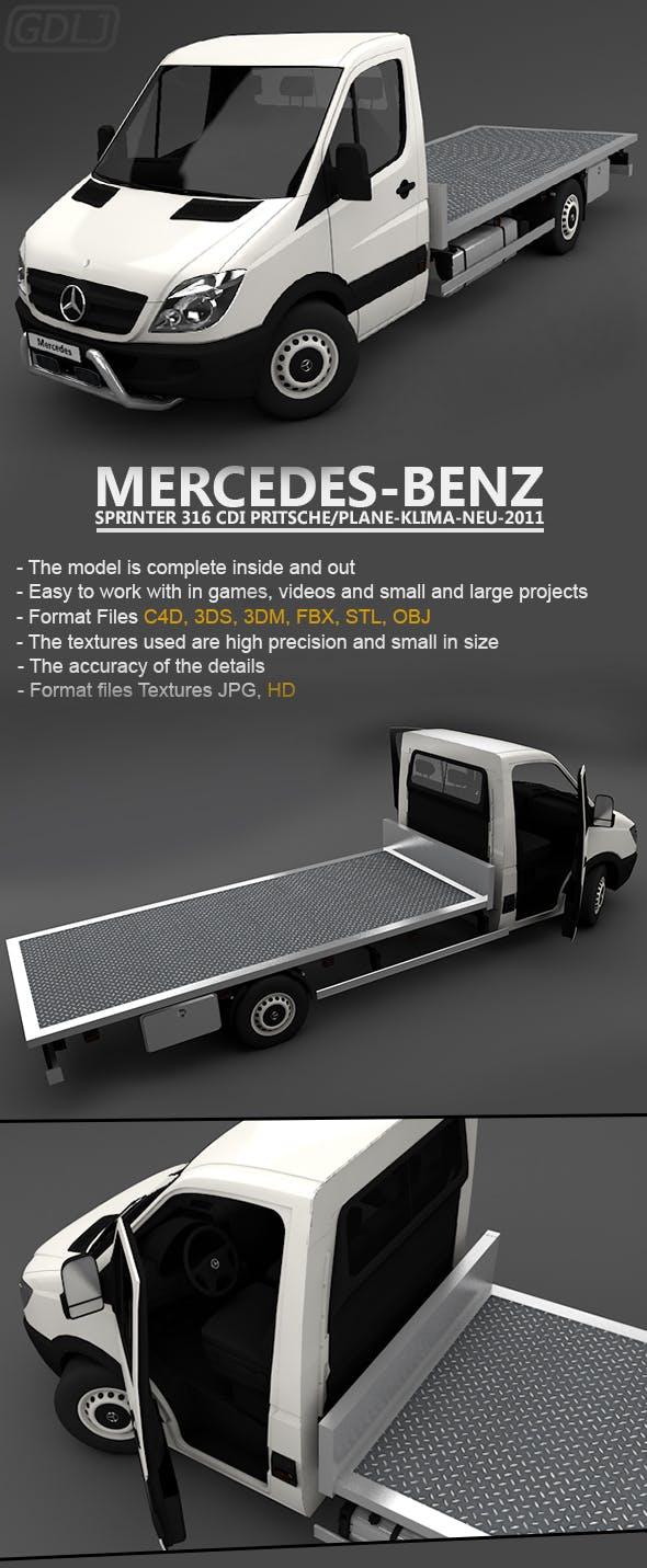 Mercedes Sprinter 316 CDi Pritsche Plane Klima Neu 2011 - 3DOcean Item for Sale