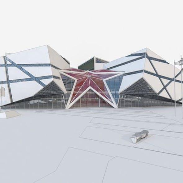 Modern Museum Building 01