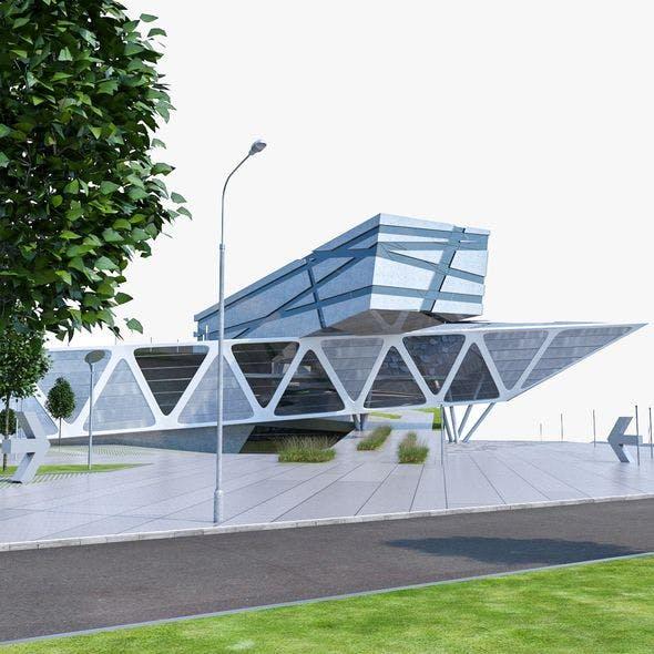 Modern Museum Building 02 - 3DOcean Item for Sale
