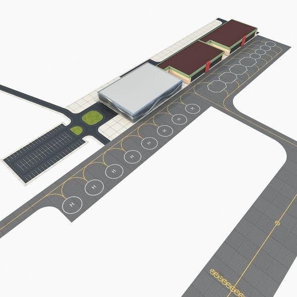 Modern Regional Airport - 3DOcean Item for Sale