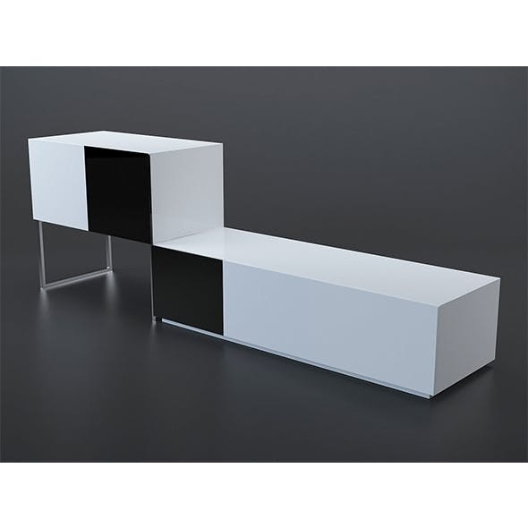 Black and white buffet - 3DOcean Item for Sale