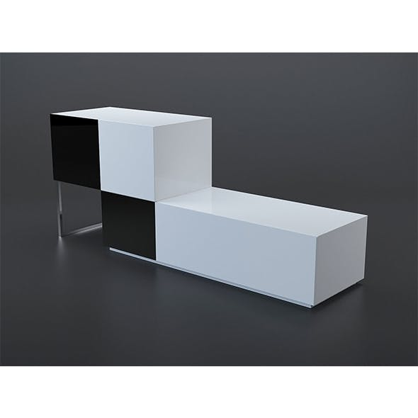 Black and white buffet 2 - 3DOcean Item for Sale