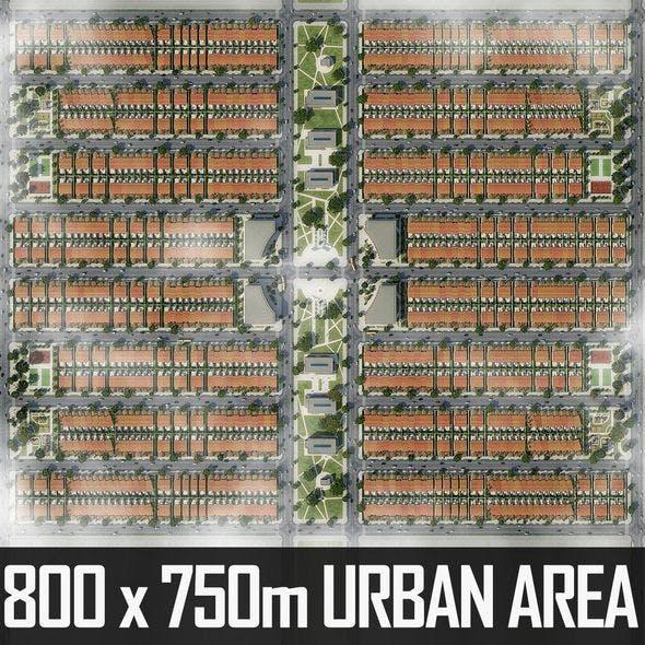 Neighborhood Houses 05 - 3DOcean Item for Sale