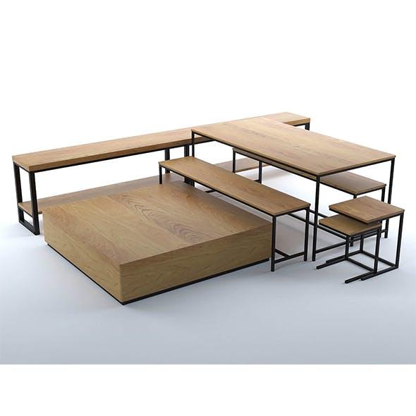 Elliot furniture collection - 3DOcean Item for Sale