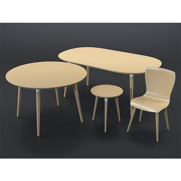 Edelweiss furniture collection - 3DOcean Item for Sale