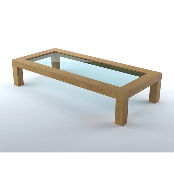 Wood living room coffee table 1 - 3DOcean Item for Sale