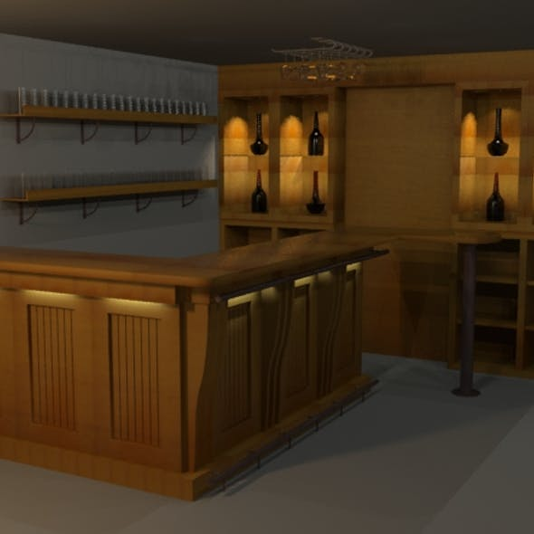 Highpoly detailed Bar