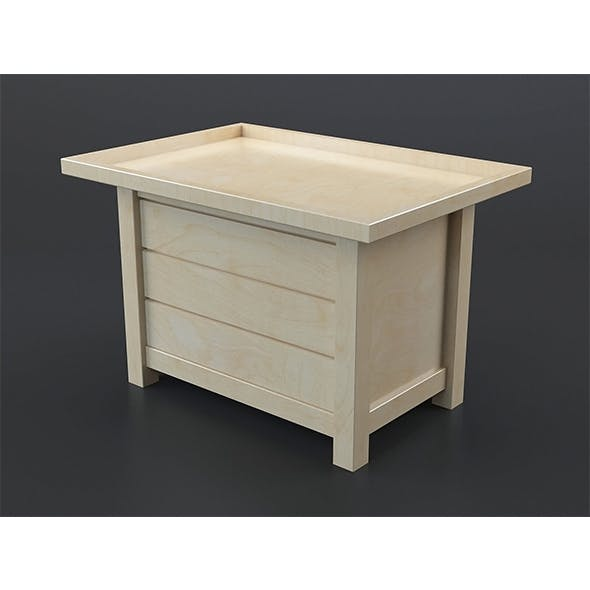 Light oak coffee table 2 - 3DOcean Item for Sale