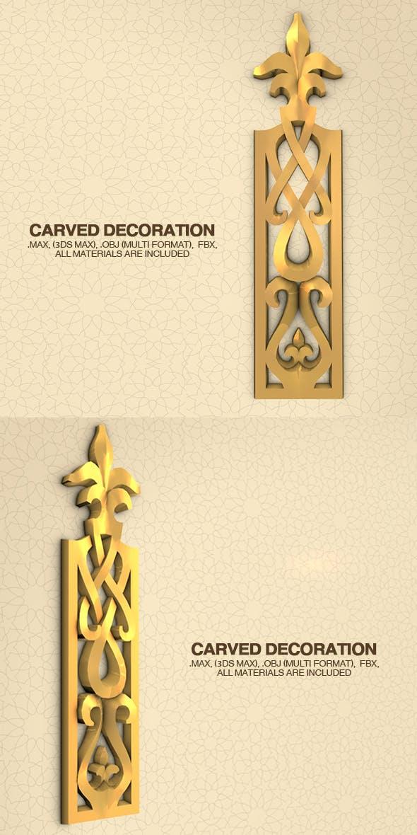 Carved Decoration - 3DOcean Item for Sale