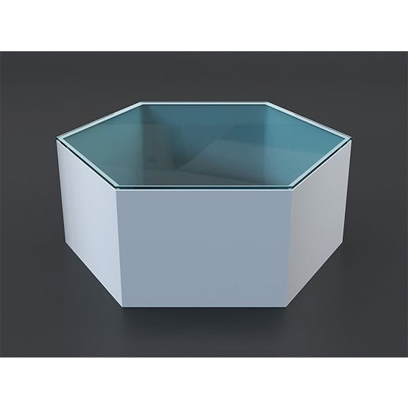 Hexagon coffee table - 3DOcean Item for Sale